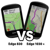 Garmin Edge 830 vs 1030+