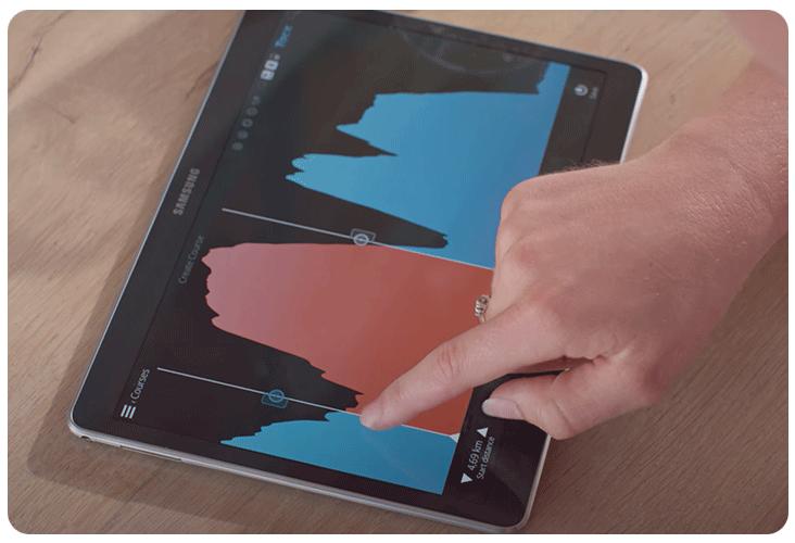 Analyse de la puissance depuis l'application mobile Tacx