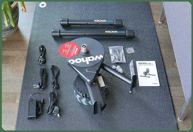 Accessoires inclus dans la boite du Wahoo Kickr Core